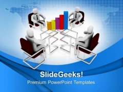 Team Meeting For Business Growth PowerPoint Templates Ppt Backgrounds For Slides 0613