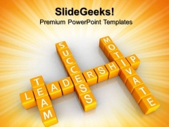 Team Motivate Success Leadership PowerPoint Templates And PowerPoint Themes 0712