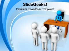 Team Of People With Manager PowerPoint Templates Ppt Backgrounds For Slides 0813