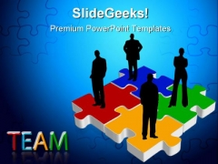 Team On Puzzle Business PowerPoint Themes And PowerPoint Slides 0311