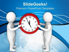 Team Presents Time Is Money PowerPoint Templates Ppt Backgrounds For Slides 0813
