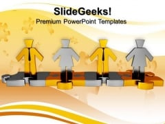 Team Puzzle Business PowerPoint Templates And PowerPoint Themes 0812