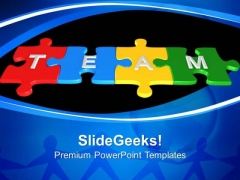 Team Puzzle Leadership PowerPoint Templates And PowerPoint Themes 0612