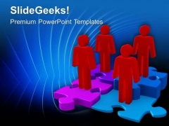 Team Shows Steps To Grow Business Concept PowerPoint Templates Ppt Backgrounds For Slides 0613