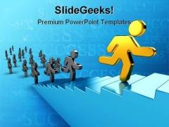 Team Success Business PowerPoint Template 0810