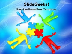 Team Thinking People PowerPoint Templates And PowerPoint Backgrounds 0211