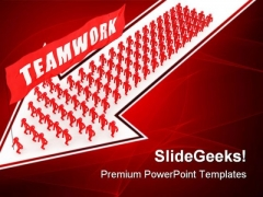 Team Walking Business PowerPoint Themes And PowerPoint Slides 0311