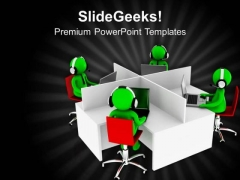 Team With Good Ability And Knowledge PowerPoint Templates Ppt Backgrounds For Slides 0713