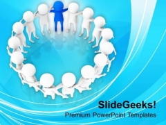 Team With Leader Business Management PowerPoint Templates Ppt Backgrounds For Slides 0413