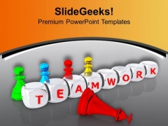 Team Work Leading To Success Winner PowerPoint Templates Ppt Backgrounds For Slides 0313