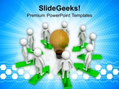 Team Working For Common Goal PowerPoint Templates Ppt Backgrounds For Slides 0813