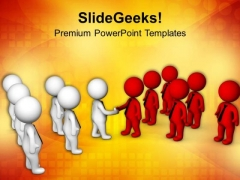 Teams Cooperation For Business Growth PowerPoint Templates Ppt Backgrounds For Slides 0713