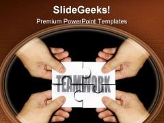 Teamwork Business PowerPoint Template 0810