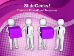 Teamwork Concept Arrange Cubes PowerPoint Templates Ppt Backgrounds For Slides 0613