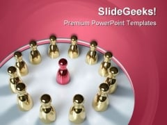 Teamwork Concept Chess Sports PowerPoint Themes And PowerPoint Slides 0611