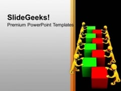 Teamwork Concept In Combination Of Cubes PowerPoint Templates Ppt Backgrounds For Slides 0513