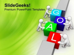Teamwork Concept To Achieve Goals PowerPoint Templates Ppt Backgrounds For Slides 0513