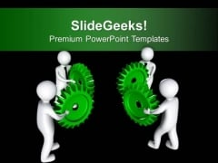 Teamwork Concept To Arrange Gears Business PowerPoint Templates Ppt Backgrounds For Slides 0213