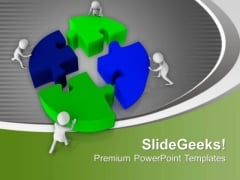 Teamwork Concept To Complete The Task PowerPoint Templates Ppt Backgrounds For Slides 0713