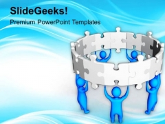 Teamwork For Success PowerPoint Templates Ppt Backgrounds For Slides 0413