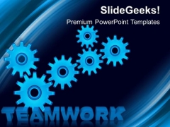 Teamwork Gears Wheels PowerPoint Templates And PowerPoint Themes 0412