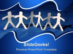 Teamwork Of Paper Team Leadership PowerPoint Templates And PowerPoint Backgrounds 0811