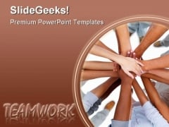 Teamwork People PowerPoint Template 0610