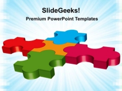 Teamwork Puzzle Business PowerPoint Templates And PowerPoint Themes 0212