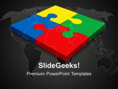 Teamwork Puzzle Communication PowerPoint Templates And PowerPoint Themes 0412