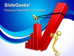 Teamwork Raising The Bar Business PowerPoint Templates And PowerPoint Backgrounds 0811