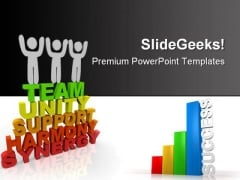 Teamwork Success PowerPoint Backgrounds And Templates 1210