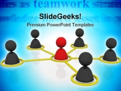 Teamwork Unity Leadership PowerPoint Templates And PowerPoint Backgrounds 0411