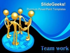 Teamwork Unity Leadership PowerPoint Themes And PowerPoint Slides 0811