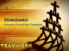 Teamwork Unity People PowerPoint Templates And PowerPoint Backgrounds 0811