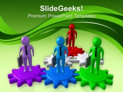 Teamwork With Team Leaders Business Concept PowerPoint Templates Ppt Backgrounds For Slides 0613