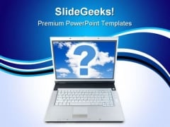 Technical Question Computer PowerPoint Templates And PowerPoint Backgrounds 0811