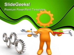 Technician Industrial PowerPoint Templates And PowerPoint Backgrounds 0811