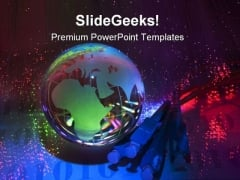 Technology Earth Global PowerPoint Templates And PowerPoint Backgrounds 0311
