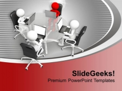 Technology Make You Stand Out In Crowd PowerPoint Templates Ppt Backgrounds For Slides 0313