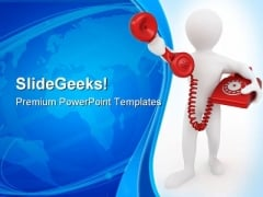 Telephone Receiver Communication PowerPoint Themes And PowerPoint Slides 0311