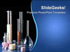 Test Tubes Measuring Glasses Science PowerPoint Themes And PowerPoint Slides 0711