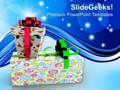 Textured Gift Pack For Special Occasion PowerPoint Templates Ppt Backgrounds For Slides 0413