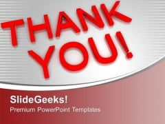 Thank You Business Concept PowerPoint Templates Ppt Backgrounds For Slides 0313