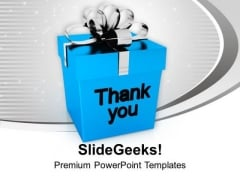 Thank You Gift Box Design PowerPoint Templates Ppt Backgrounds For Slides 0113