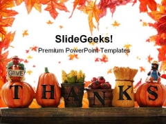 Thanks Giving Nature PowerPoint Template 0610