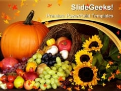 Thanks Giving Season Festival PowerPoint Themes And PowerPoint Slides 0411