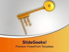 The Key To Seo Business Success PowerPoint Templates Ppt Backgrounds For Slides 0313