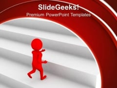 The Leader And Walk Through Success Path PowerPoint Templates Ppt Backgrounds For Slides 0613