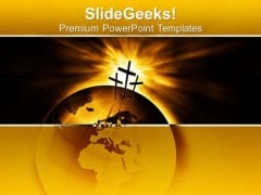 The Three Crosses Christian PowerPoint Templates And PowerPoint Themes 0712