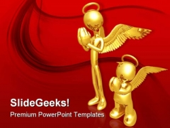 The Wannabe Angel Religion PowerPoint Themes And PowerPoint Slides 0811